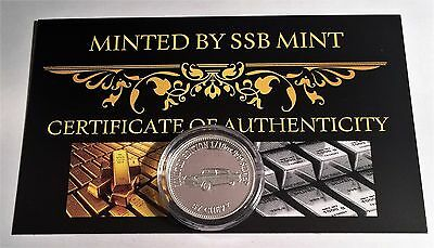 NEW 57 CHEVY MCS 2 Certified 1/10th Oz 999.0 Pure Silver Bullion Coin