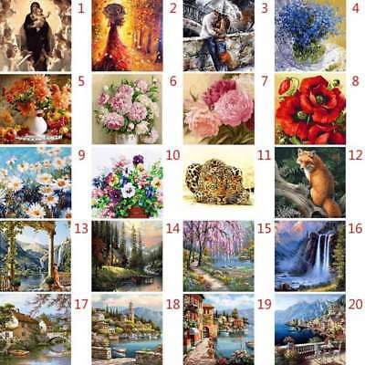 DIY Wall Landscape Oil Painting By Numbers Digital Pictures Linen Modern Decors