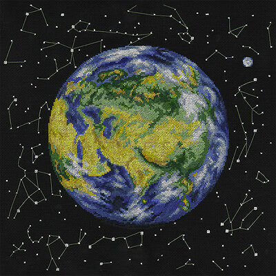 Planet Earth - Cross Stitch Chart - Free Postage