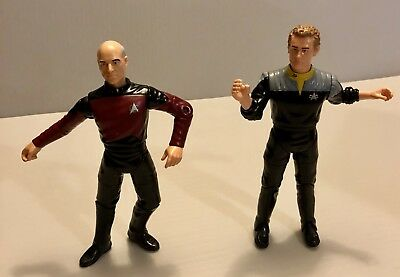 Star trek Captain Jean-Luc picard & Chief Miles O'Brien Playmate Toys A1-2