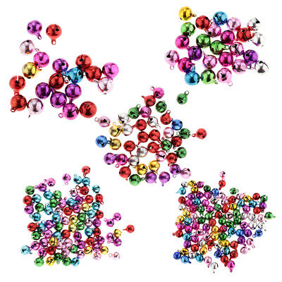 Multi-colors Jingle Bell Pendants Charms DIY Jewelry Making 6/8/10/12/14 mm