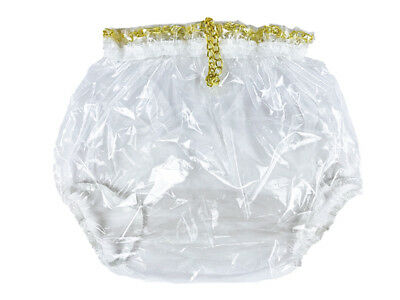 New Adult Pull-On Locking Plastic Pants Color Glass Clear  # P016-9