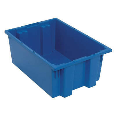QUANTUM STORAGE SYSTEMS Nest and Stack Container,19-1/2 in,Blue, SNT200BL, Blue