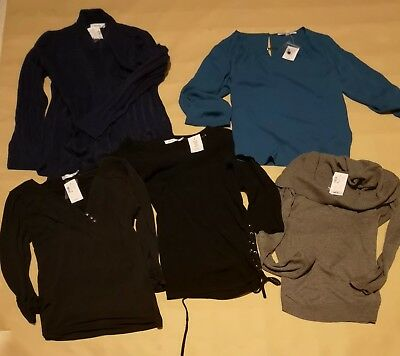 NEW WITH TAGS - Lot of Women's tops (2) and sweaters (3) - Medium.