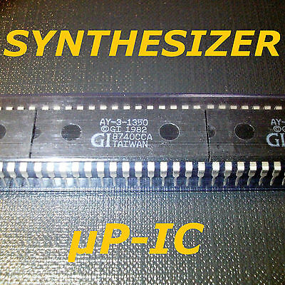5x 👉👉👉👉👉 AY-3-1350 👉👉👉👉👉 Gen. Instr. 1985 vintage RETRO Synthesizer IC