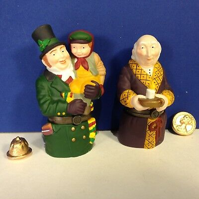 SET OF 2 Dept 56 Dickens Village A CHRISTMAS CAROL HINGED BOXES Has trinkets