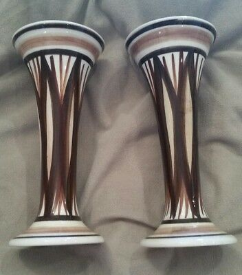 Jersey Pottery Retro Design Pair Of Bud Vases