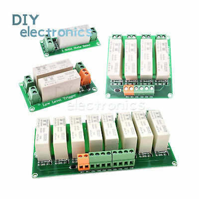 DC-DC 1/2/4/8 Channel SSR Solid State Relay Low Trigger 5A 0-2V for Arduino US