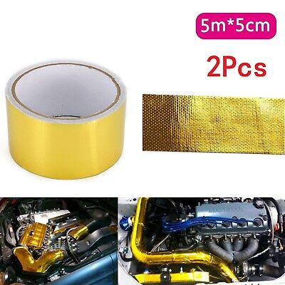 5Mx5CM Gold Roll Adhesive Reflective High Temperature Heat Shield Wrap Tape