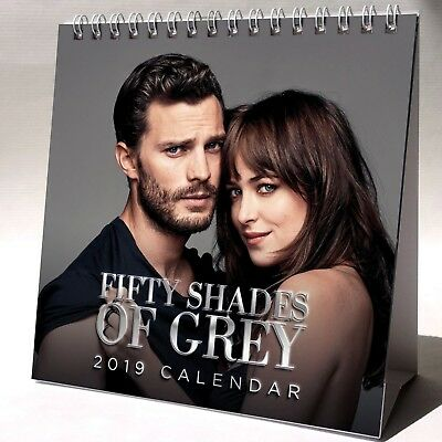Fifty Shades Of Grey Desktop Calendar 2019 NEW + GIFT 3 Stickers Jamie Dornan