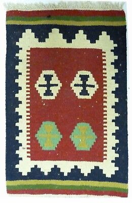 Kilim Persan Traditionnel Oriental hand made 60 cm x 40 cm  N° 70