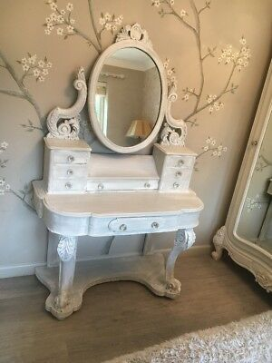 Carved Duchess Mirrored Dressing Table