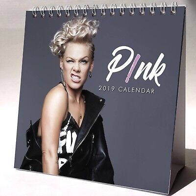 Pink Desktop Calendar 2019 NEW + FREE GIFT 3 Stickers P!nk What About Us