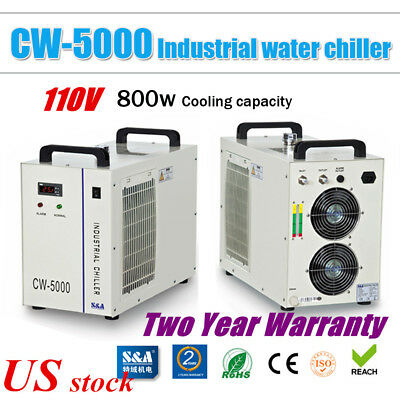 US S&A CW-5000DG Industrial Water Chiller for 80W / 100W /120W CO2 Laser Tube