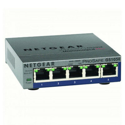 Netgear GS105PE-10000S 5-port PoE ProSAFE Plus Switch