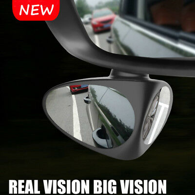 1x Car Two-sided Blind Spot Mirror Wide Angle 360 Paste Under Rear View Mirror-