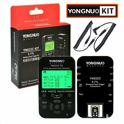 Yongnuo YN-622C KIT = YN622C RX + YN-622C-TX HSS E-TTL Wireless Flash Trigger AU