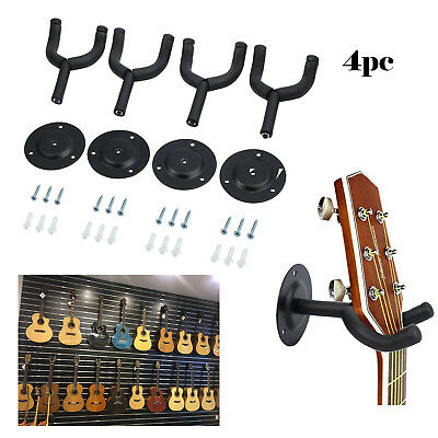 4pcs Guitar Wall Mounting Hangers Soft Rubber Foam Padded Hook Mount Holder UK