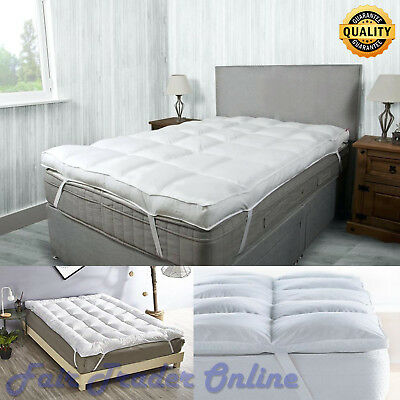 """4"""" Luxury Hotel Quality Microfiber Mattress Topper Ultra Soft Air-Flow 4inch New"""
