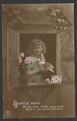 e978)    EARLY 1900's  POSTCARD BY E.A. SCHWERDTFEGER -  GENTLE MARY