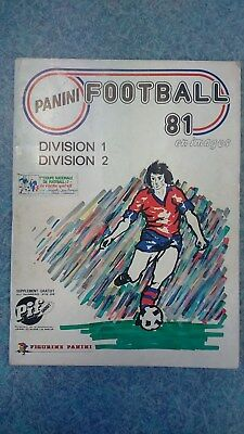 Album d'images PANINI football 1981 (incomplet).