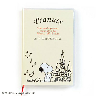 Snoopy Peanuts Sanrio Date Book 2019 Pocket Schedule Planner Japan New Free Ship