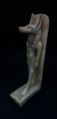 Rare Ancient Egyptian Antique Statue of God Anubis Faience Figure 2686-2181 Bc