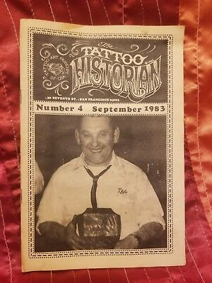 RARE Tattoo Historian #4, Lyle Tuttle, Vintage Tattoo, Tattoo Flash, 1983
