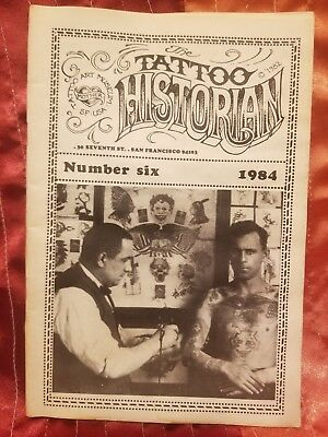 RARE Tattoo Historian #6, Lyle Tuttle, Vintage Tattoo, Tattoo Flash, 1984