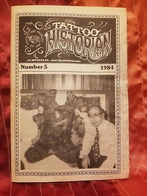 RARE Tattoo Historian #5, Lyle Tuttle, Vintage Tattoo, Tattoo Flash, 1984