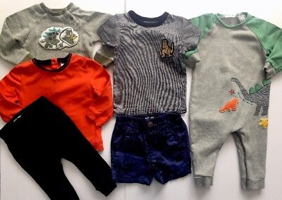 Next Baby Boys Bundle Dinosaur All In One Romper Jumper T-shirt Joggers Age 9-12