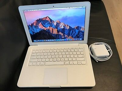 "Apple MacBook White 13"" A1342 500GB HDD, 8GB Ram. OS High Sierra 2017 and Office"