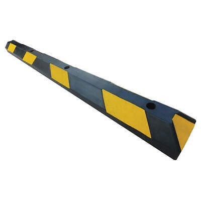 GRAINGER APPROVED Parking Curb,6in.W,4in.H,72in.L,Rubber, 29NH31, Black/Yellow