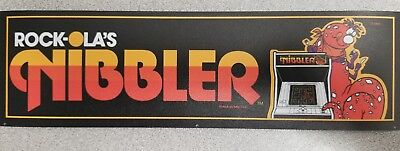 Nibbler Arcade Marquee sticker. 3 x 10.5 (Buy any 3 stickers, GET ONE FREE!)