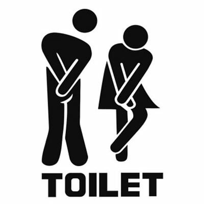 3X(Man and Woman Logo of Creative Toilet Wall Stickers, Toilet Bathroom Re J2L1)