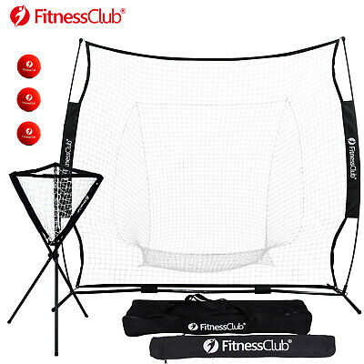 7'X7' Baseball Softball Practice Net Training Aid Hitting Batting Cage Carry Bag