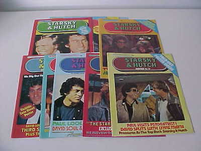 STARSKY & HUTCH MONTHLY MAGAZINES X 10 - VERY GOOD CONDITION - 1970s