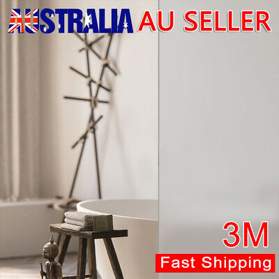 90cm*3m Sand Blast Clear Privacy Frosted Frosting Window Glass Film Removable AU