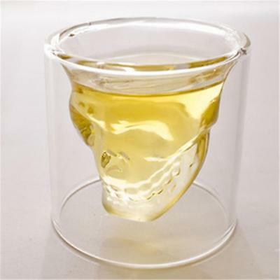 1pc Cool Crystal Glass Vodka Whiskey Skull Cup Drinking Ware Home Bar Party
