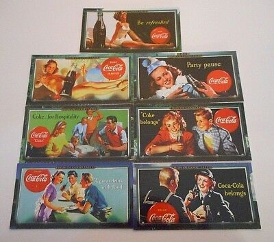 **7 x COCA COLA SIGN OF GOOD TASTE TRADING CARDS 1996-FREE POST**