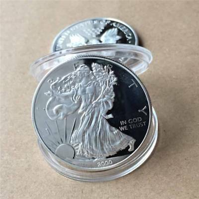 US 1 Dollar Statue of Liberty Souvenir Stamp Coin Collection Commemorative Coin