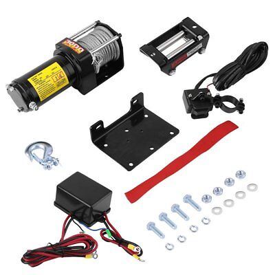 3000LBS Heavy Duty Electric Recovery Winch 12V Remote Control Rope Trailer Truck