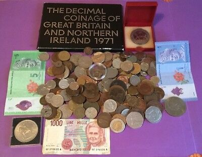JOB LOT OF OLD WORLD COINS, COIN SET, 50p's & CROWNS, 99p NO RESERVE, #3