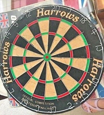 Harrows England Official Competition Bristle Dartboard Black 45cm FREE SHIPPING