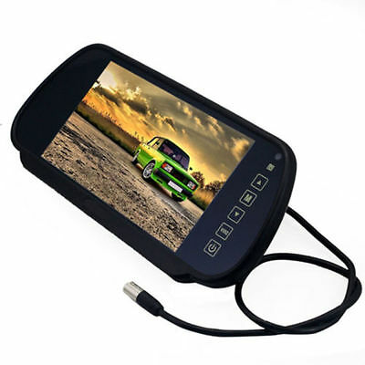 "7"" TFT LCD Screen Reverse Parking Car Rear View Mirror Monitor For Backup Camera"