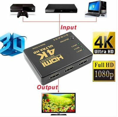 4K-2K 3 in 1 Out Port HDMI Switch Switcher Hub Splitter Ultra HD per PC H MZ~