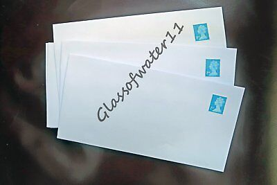 100 - Pre-Stamped Self-Seal Envelopes - Dl - With 2Nd Class Stamps Attached