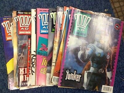 20 X Issues Of 2000AD Featuring Judge Dredd 1991-93