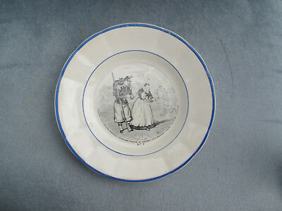 """assiette clairefontaine R.&S """"N 9/VERY NICE PLATE"""