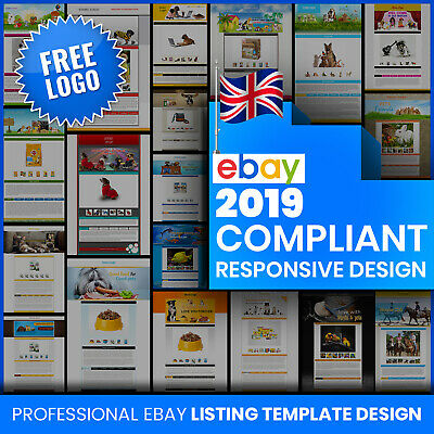Professional eBay Auction Template Mobile Responsive 2018 Policy Complaint Pets